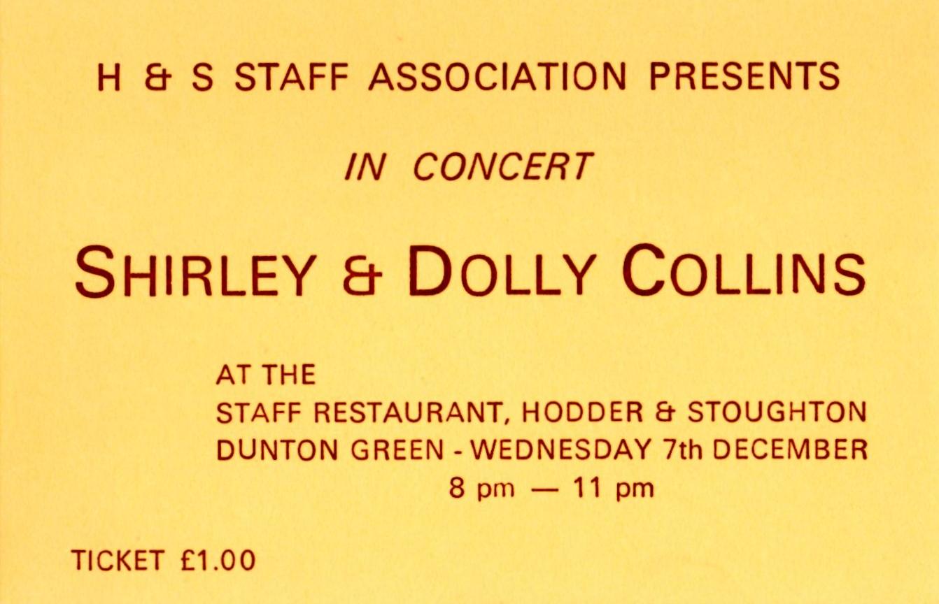 Collins sisters in concert ticket
