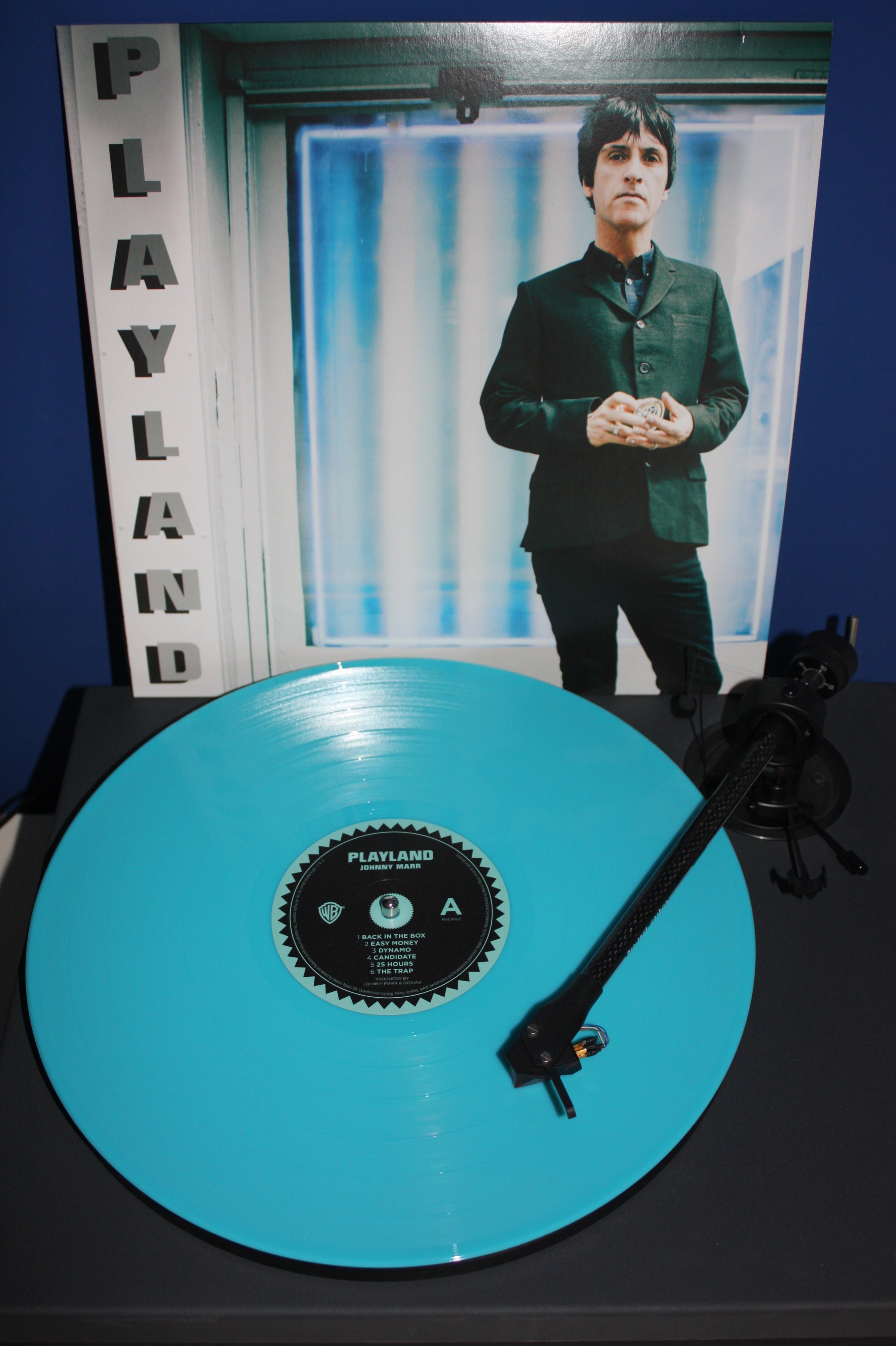 Johnny Marr on Aqua Blue vinyl