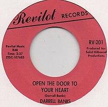 Darrell Banks Open The Door To Your Heart